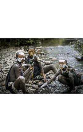Surma Painting 10 - Photographie d'art en Ethiopie Daniel Vuillemin