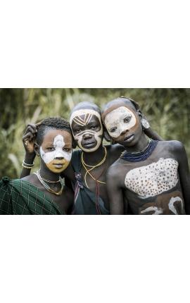 Surma Painting 11 - Photographie d'art en Ethiopie