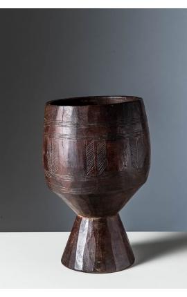 ETHIOPIE - Objet d'art africain - Coupe à beurre Guragué 01