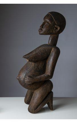 AFRIQUE - CONGO Sculpture bois femme enceinte 02