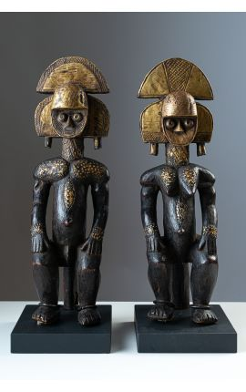 ART AFRICAIN TRIBAL - GABON - Couple statuettes Kota 01 - ARTS PREMIERS