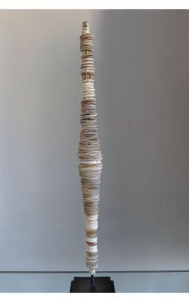 OCEANIE - Sculpture de Monnaies Papou, art tribal d'océanie