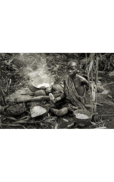 Omo Valley 15 -  photographie ethnologique en édition limitée