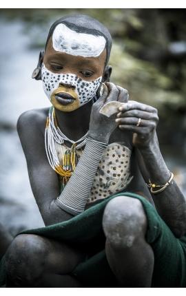 Surma Painting 03 - Photographie d'art en Ethiopie